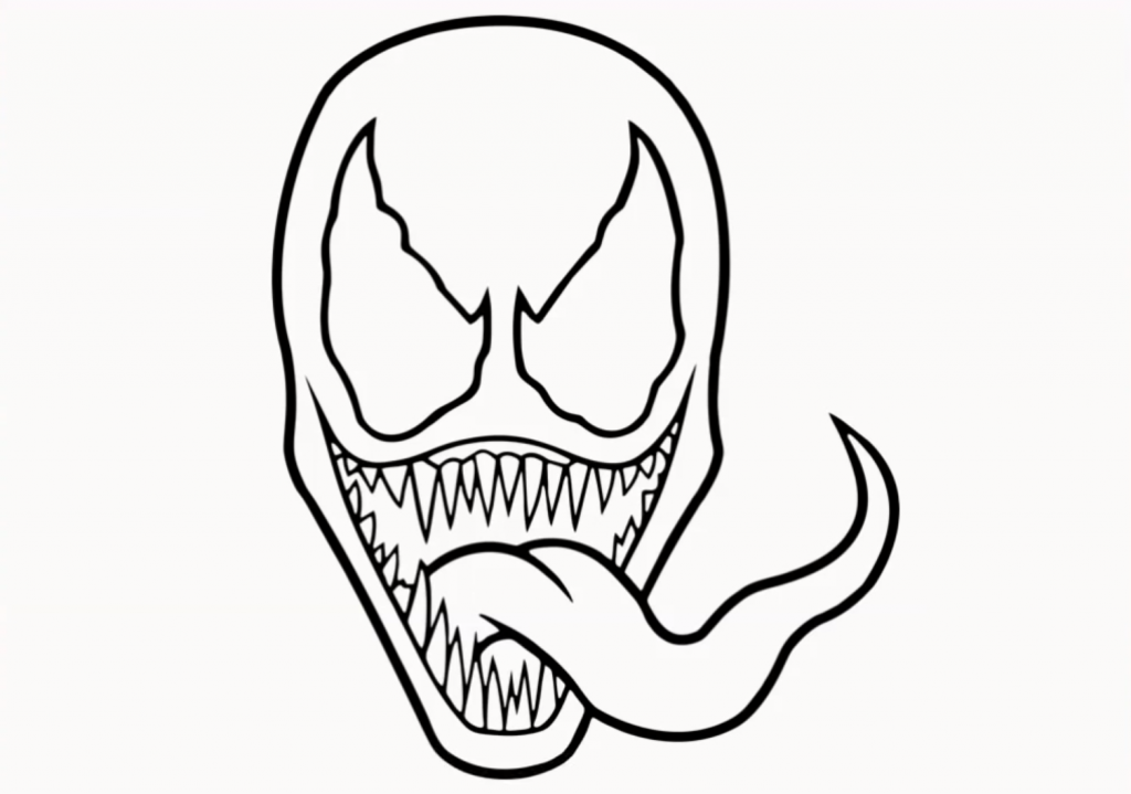 venom face coloring pages venom drooling by petex on deviantart venom coloring pages face