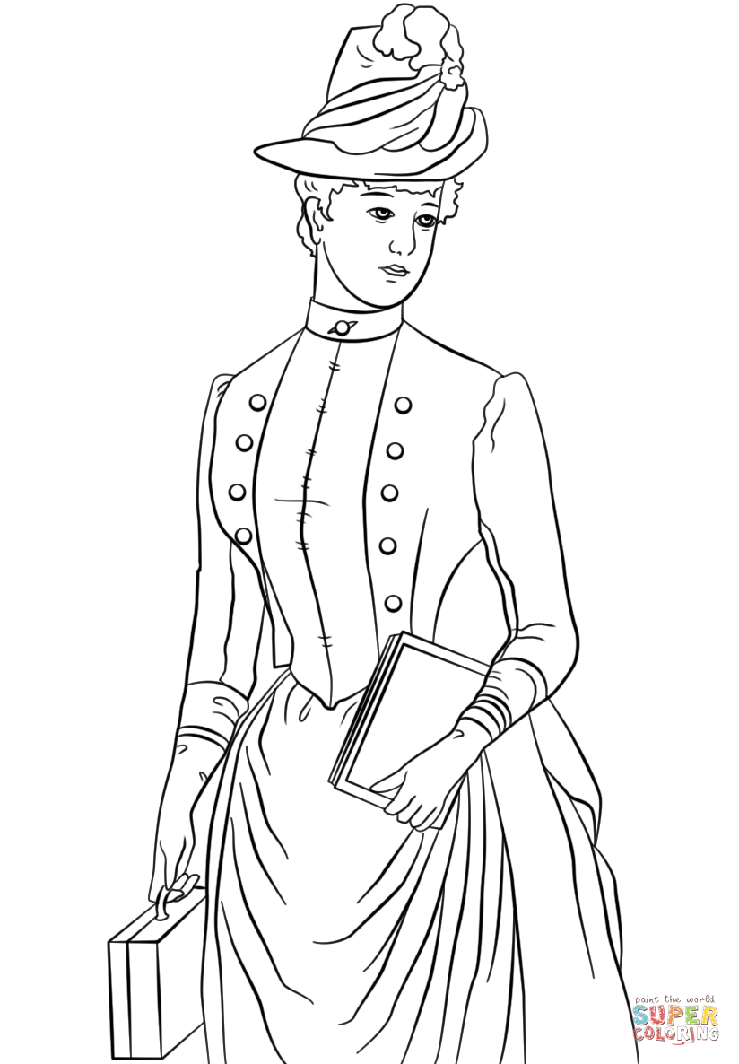 victorian pictures to colour victorian girl in a big hat free printable coloring page victorian pictures colour to