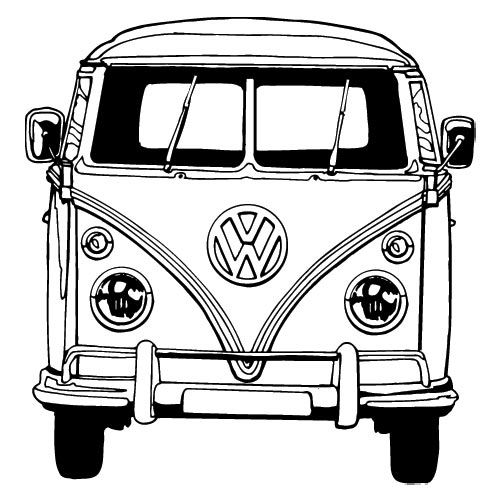 vw bus sketch blank bus for artwork vw bus pinterest buses bus sketch vw