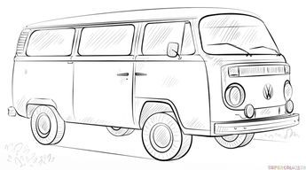 vw bus sketch cartoon vw bus google search volkswagen tees vw bus sketch