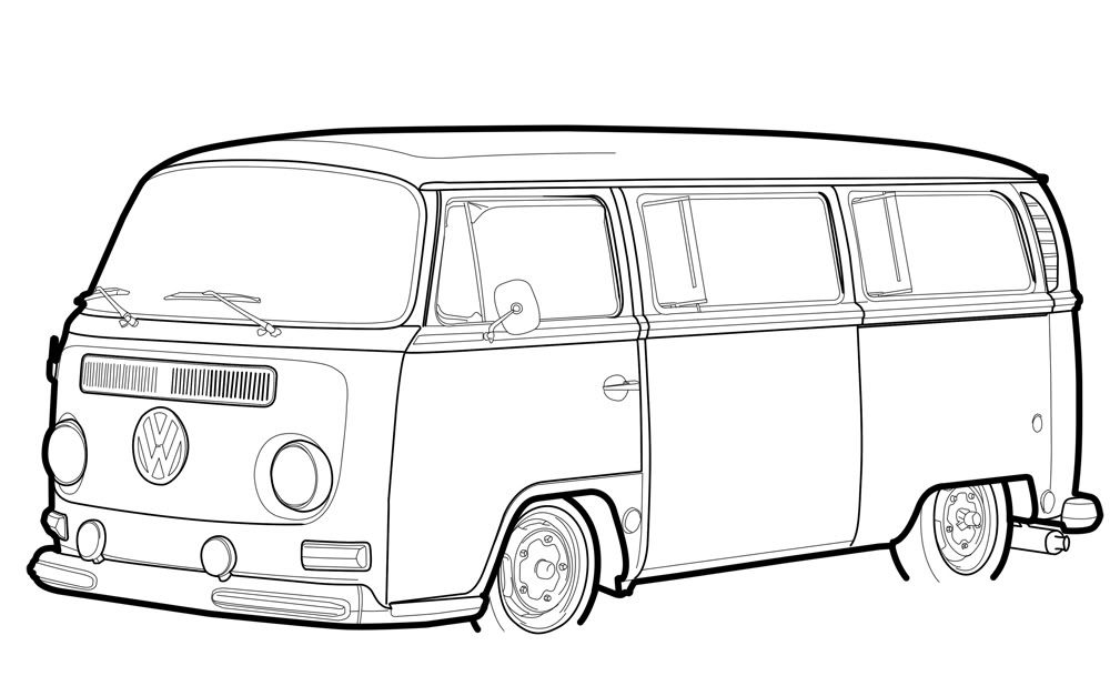vw bus sketch cartoon vw bus google search vw tekening zeichnungen sketch vw bus