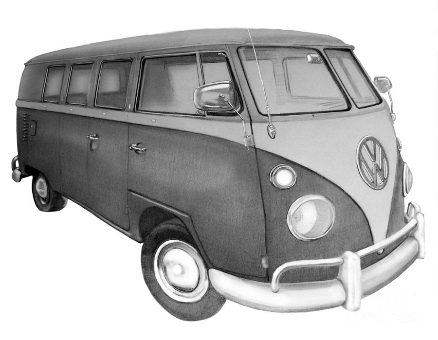 vw bus sketch found on bing from wwwpinterestcom car volkswagen vw sketch bus vw