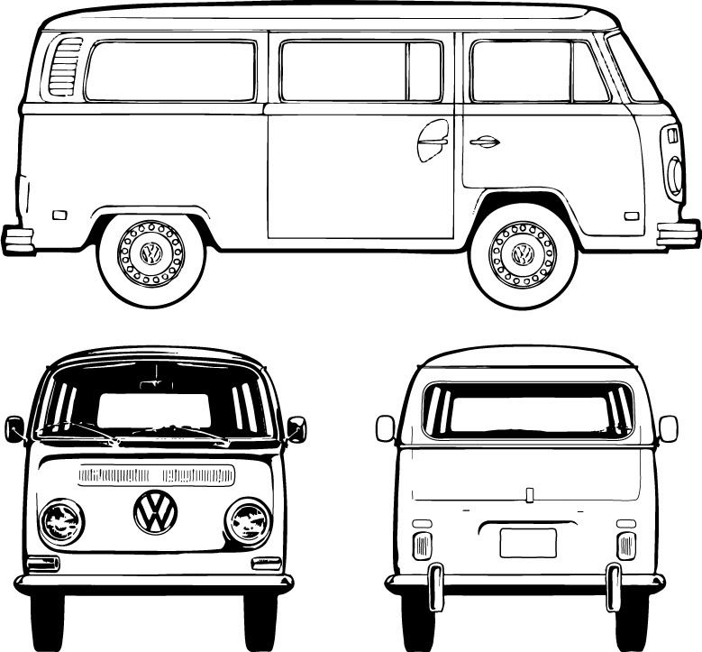 vw bus sketch vw bus drawing lesson youtube sketch vw bus