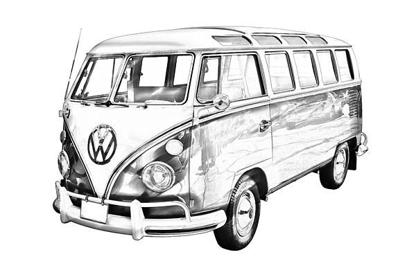 vw bus sketch vw bus line drawing at paintingvalleycom explore sketch vw bus