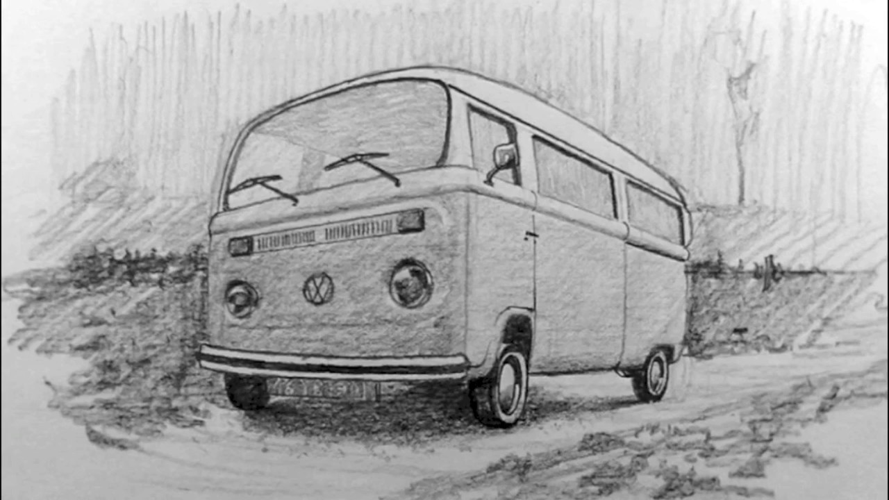 vw bus sketch vw bus sketch at paintingvalleycom explore collection vw sketch bus