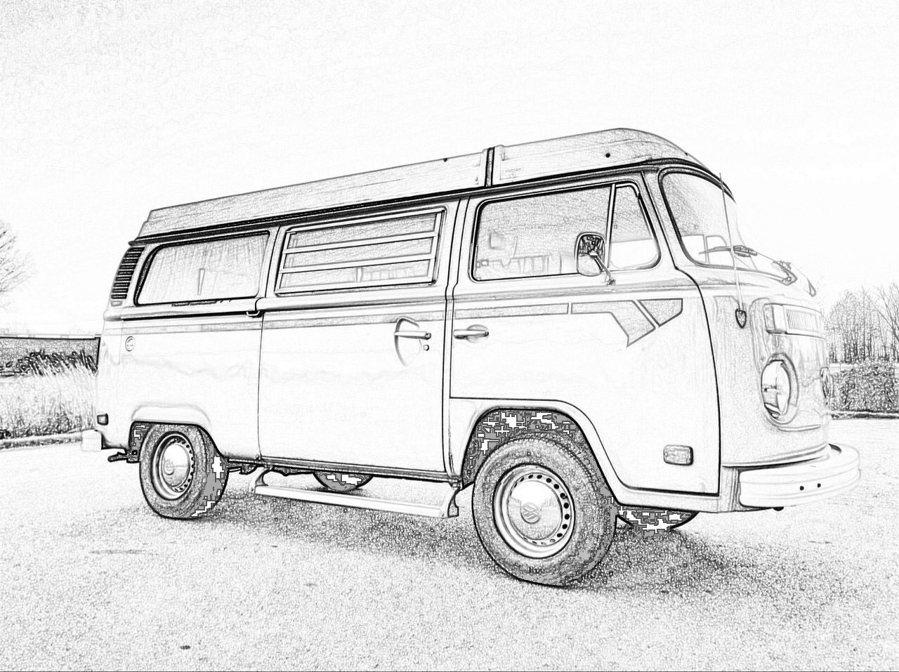 vw bus sketch vw camper van on behance vw camper camper drawing vw sketch vw bus
