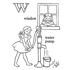 w is for water coloring page letter w coloring pages getcoloringpagescom coloring is water w for page