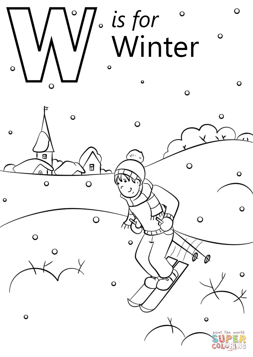 w is for water coloring page letter w coloring pages getcoloringpagescom is w for coloring water page