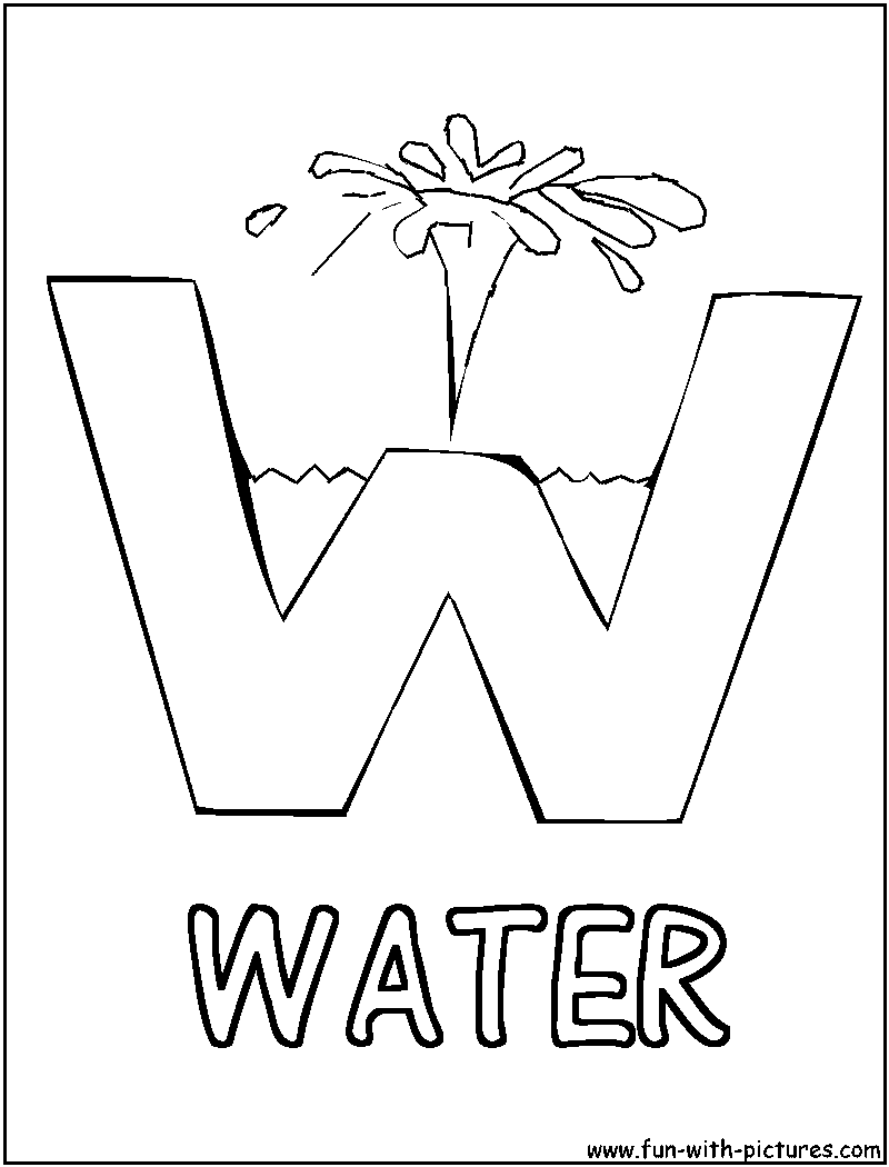 w is for water coloring page read moreletter w for water coloring page coloring pages is for w page water coloring