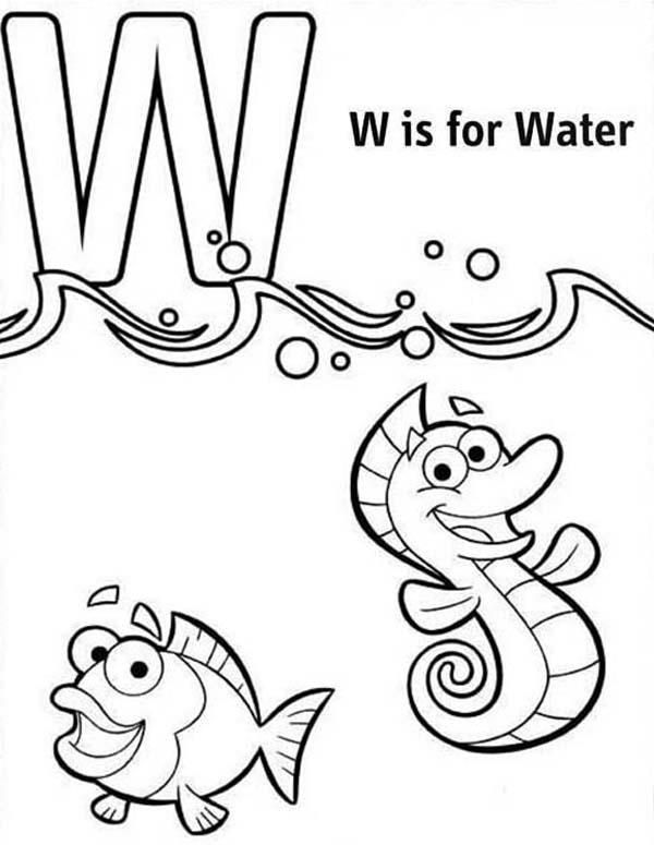 w is for water coloring page w is for water related keywords suggestions w is for for water w is page coloring