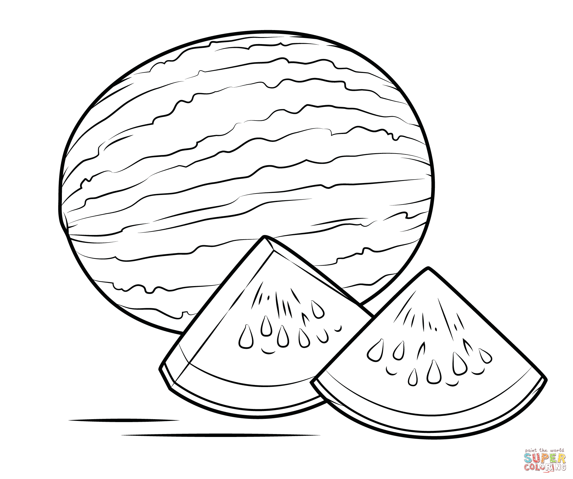 watermelon coloring image best watermelon coloring page designs coloring pages image coloring watermelon