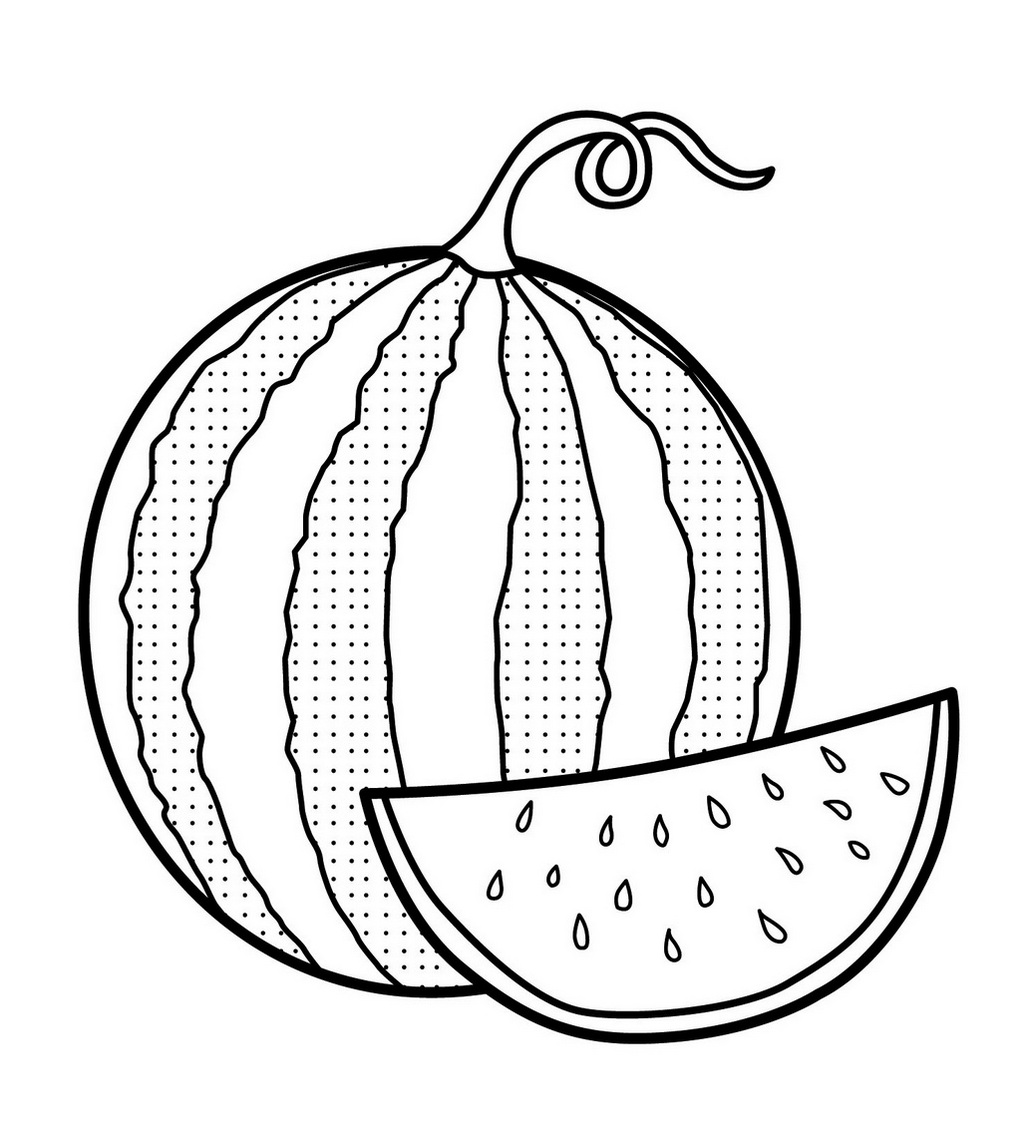 watermelon coloring image fresh image of watermelon coloring page watermelon coloring image