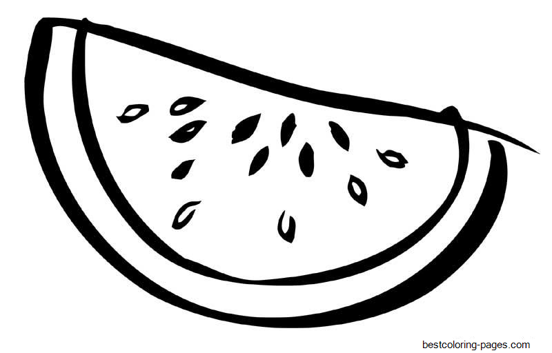 watermelon coloring image sliced watermelon fruit sbe4b coloring pages printable for image watermelon coloring