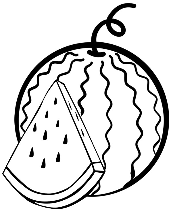 watermelon coloring image sweet watermelon coloring page mitraland image watermelon coloring