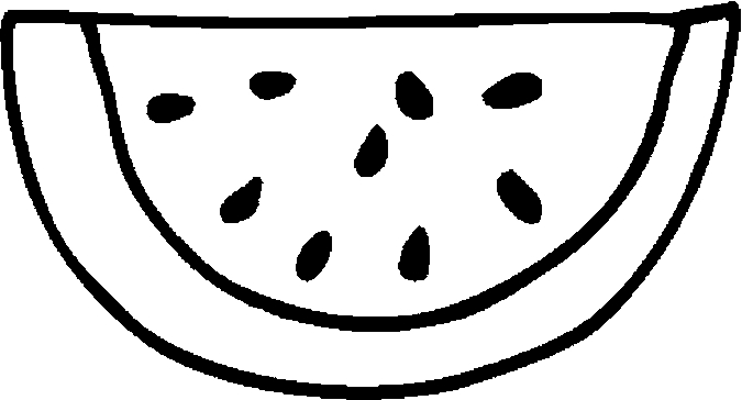 watermelon coloring image watermelon clipart black and white free download on watermelon image coloring