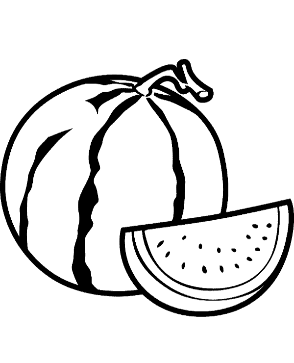 watermelon coloring image watermelon coloring page topcoloringpagesnet watermelon image coloring