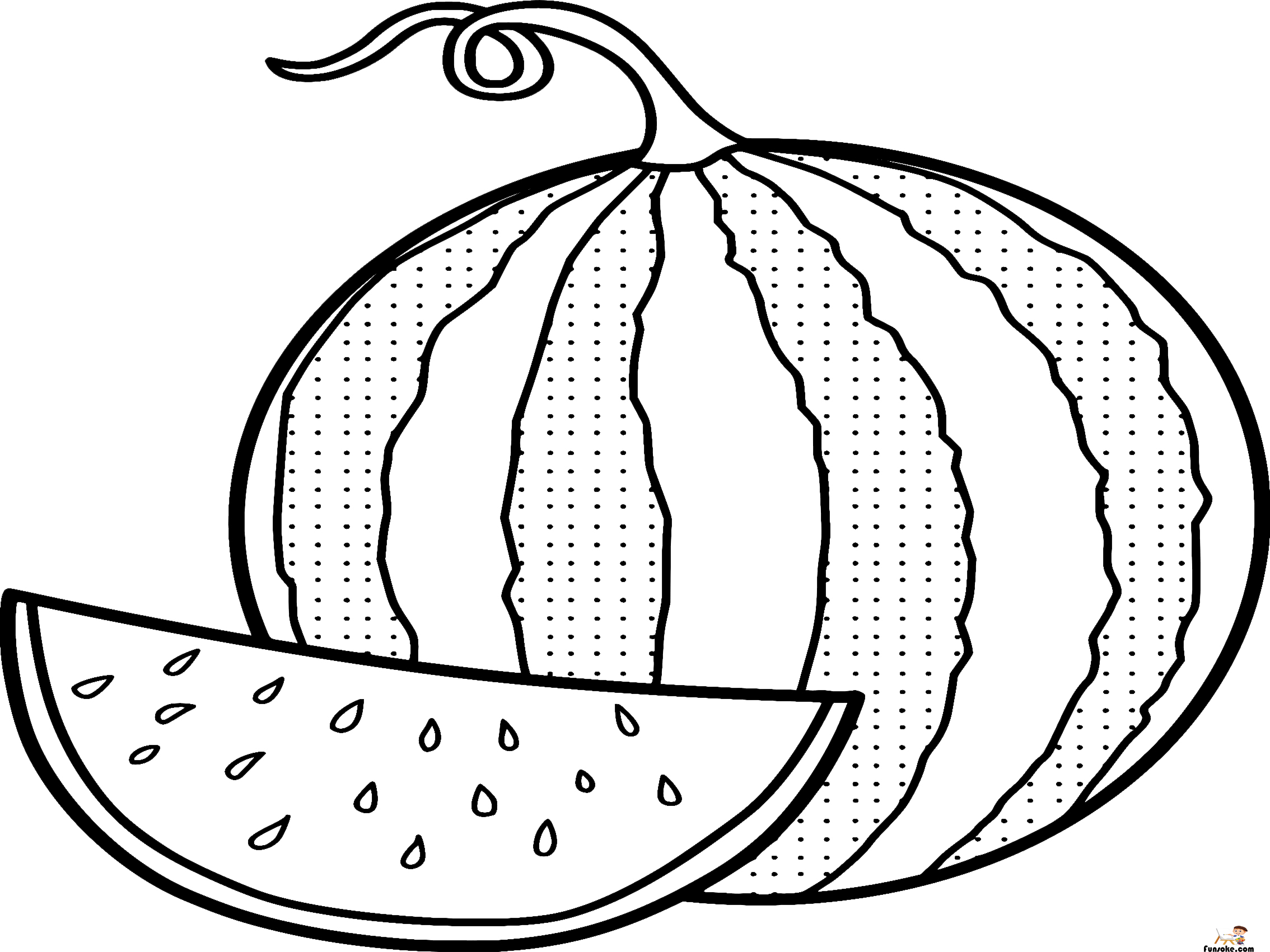 watermelon coloring image watermelon coloring pages preschoolers funsoke image watermelon coloring