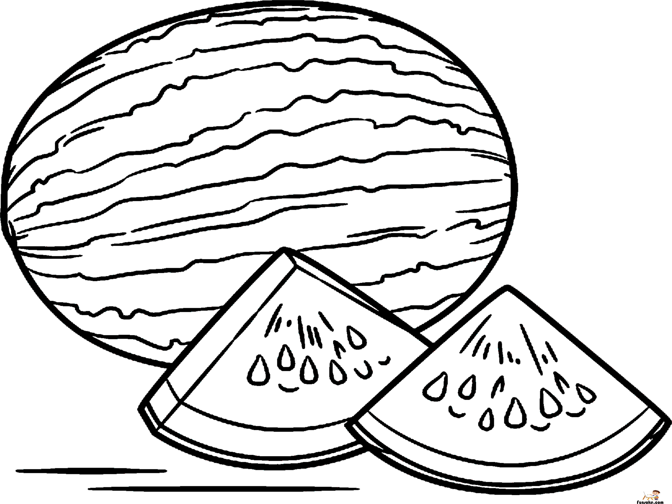 watermelon coloring image watermelon coloring pages preschoolers funsoke image watermelon coloring 1 1