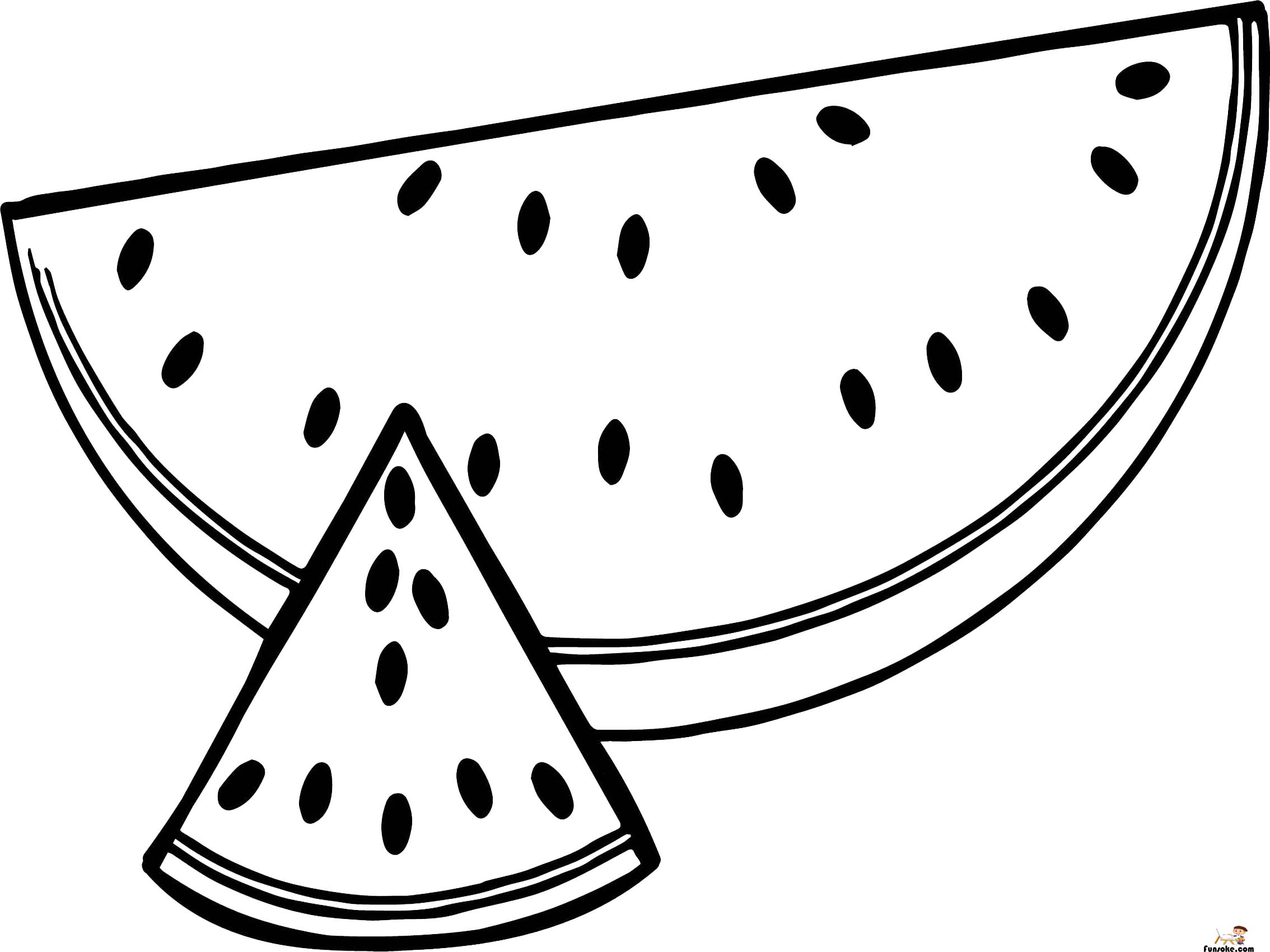 watermelon coloring image watermelon coloring pages preschoolers funsoke watermelon image coloring