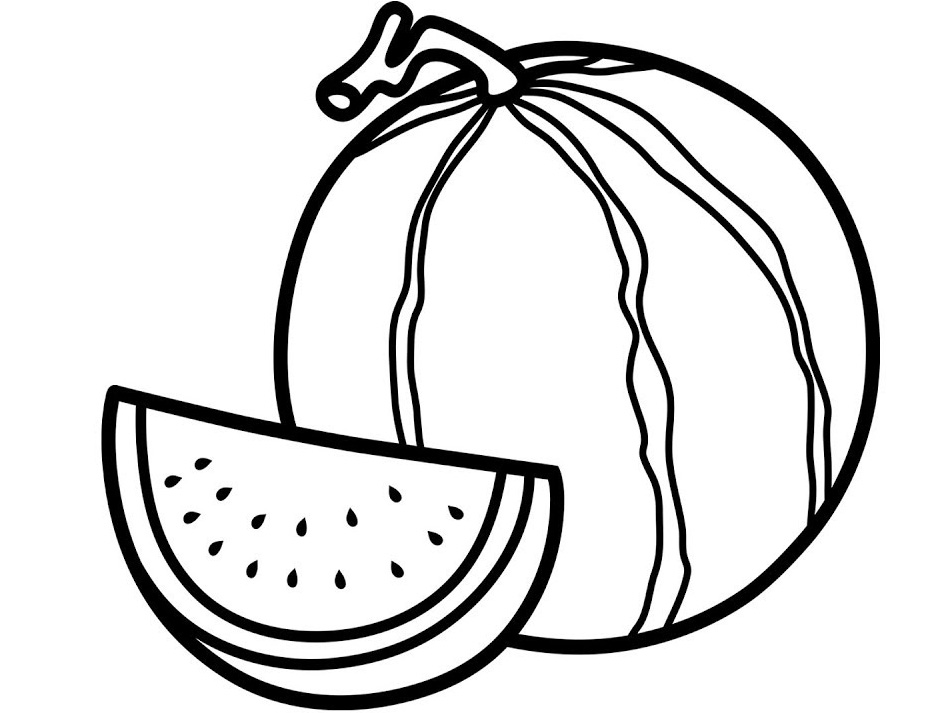 watermelon coloring image watermelon coloring pages to print watermelon coloring watermelon image coloring