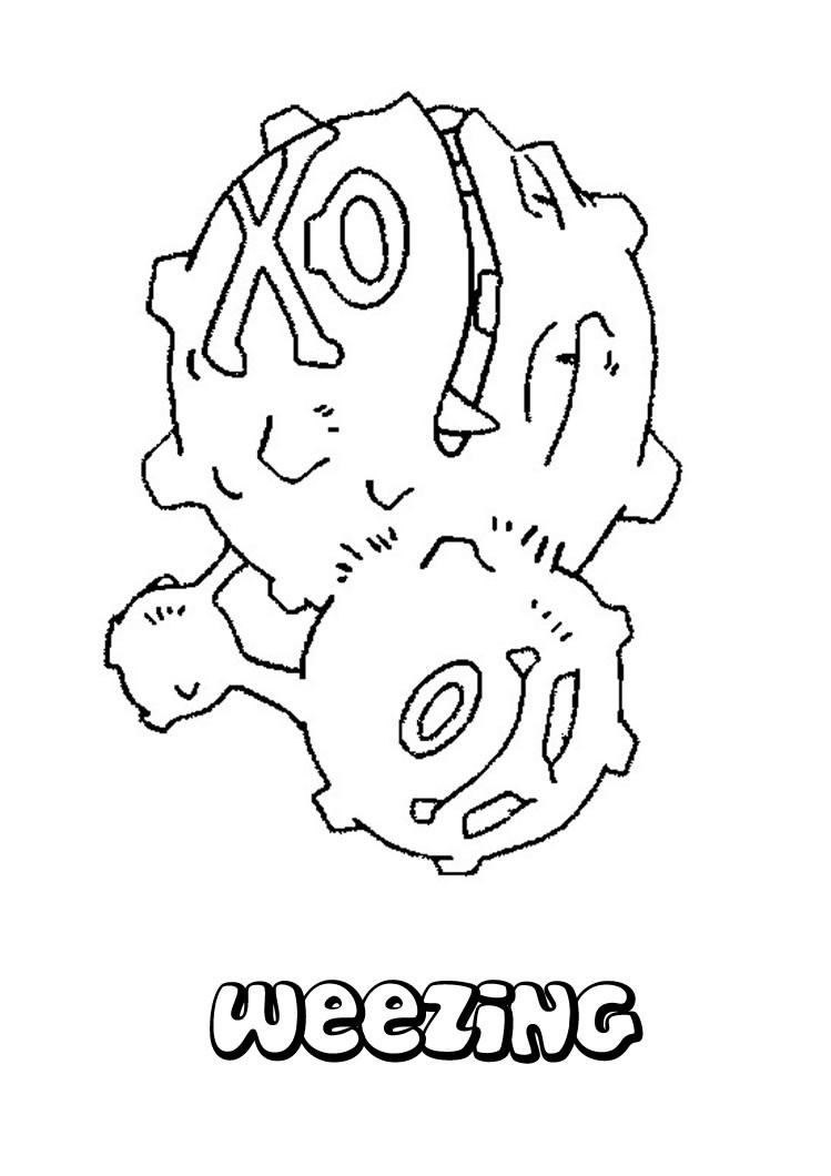 weezing pokemon coloring page learn how to draw weezing from pokemon pokemon step by weezing pokemon coloring page