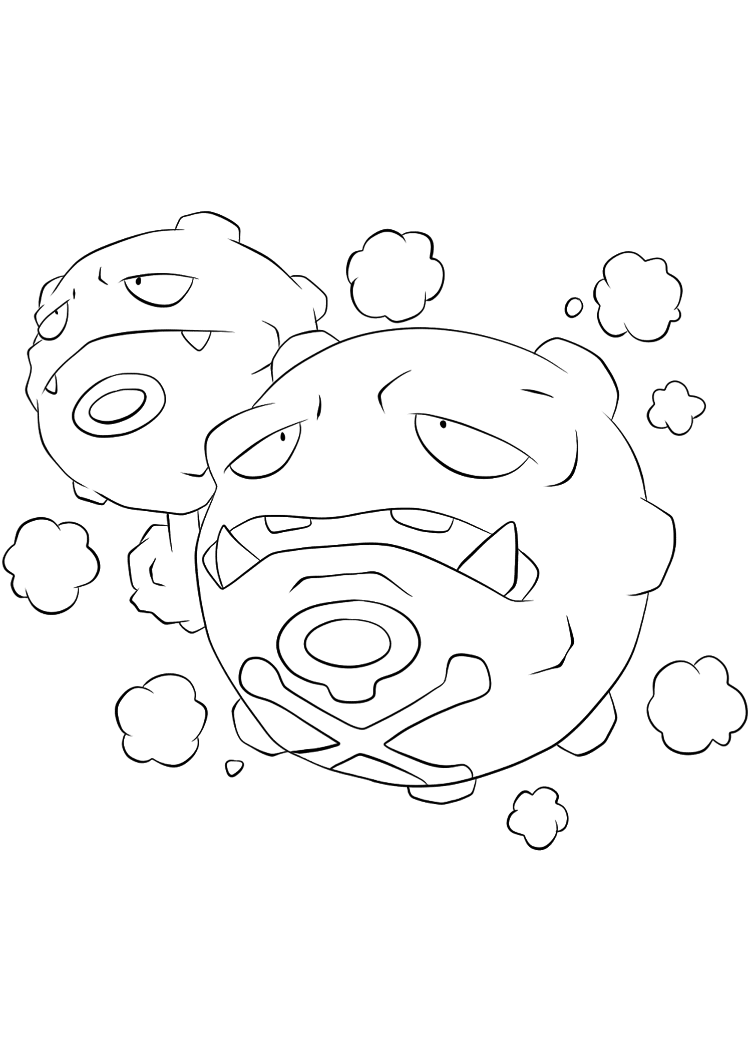 weezing pokemon coloring page weezing coloring pages for kids weezing pokemon page coloring