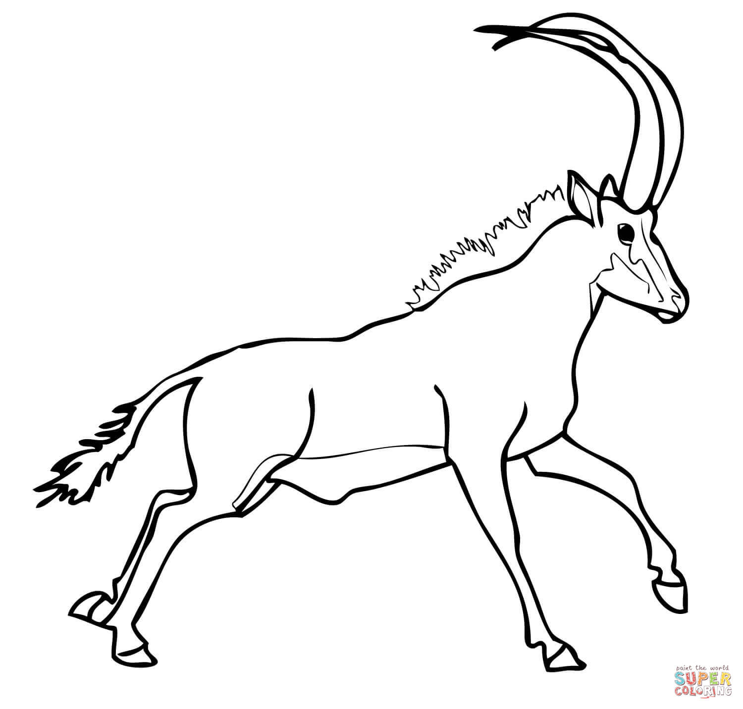 wildebeest coloring page wildebeest drawing at getdrawings free download coloring wildebeest page