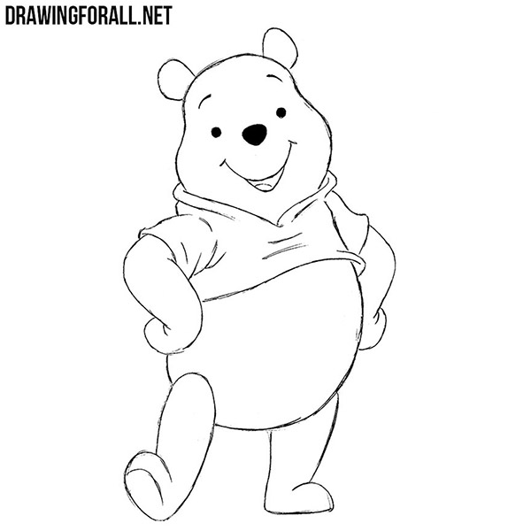 winnie the pooh drawing how to draw winnie the pooh drawingforallnet drawing pooh the winnie