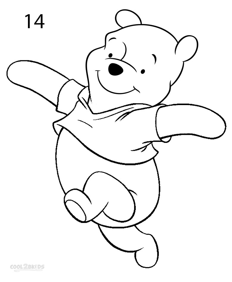 winnie the pooh drawing winnie the pooh line drawing at getdrawings free download pooh winnie the drawing
