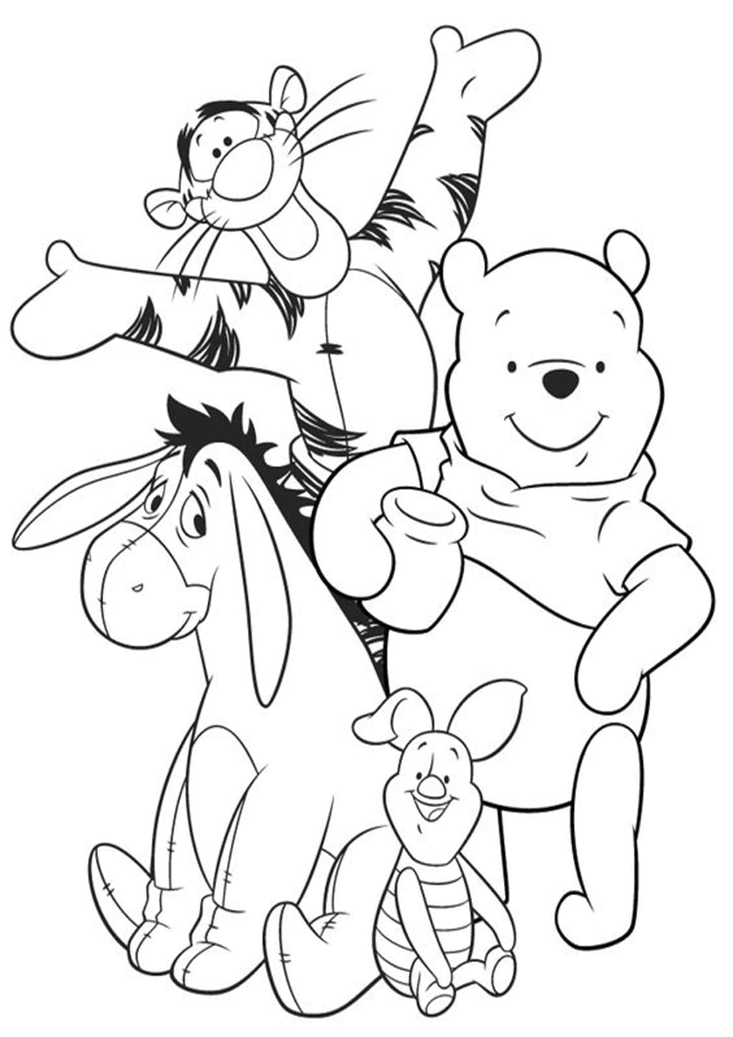 winnie the pooh pictures to color free printable winnie the pooh coloring pages for kids to the pooh pictures color winnie