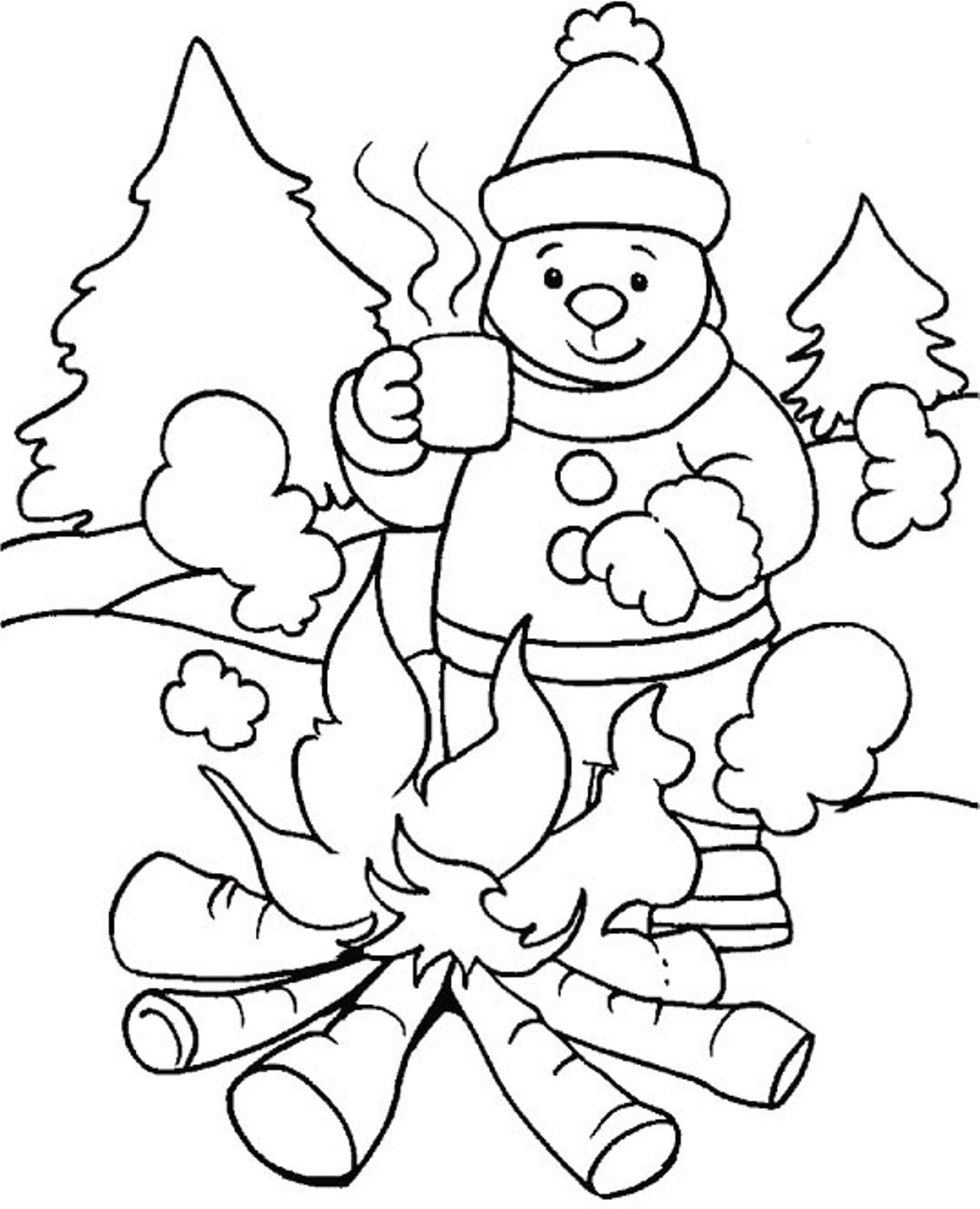 winter animal coloring sheets detailed winter coloring pages at getcoloringscom free coloring animal sheets winter