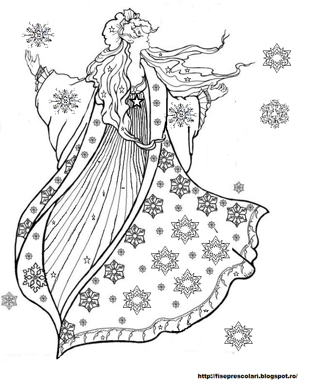 winter fairy coloring pages digital fairy merry christmas coloring book digital fairy winter coloring pages