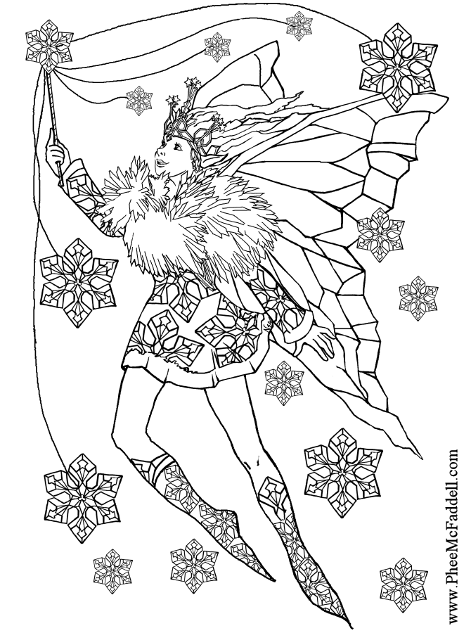 winter fairy coloring pages lovely fairy doll holding snowflake on winter season winter fairy pages coloring