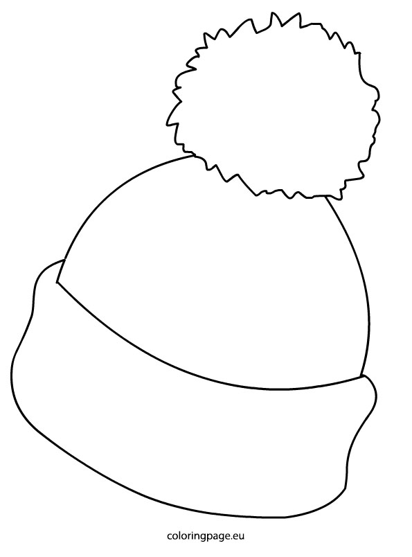 winter hat coloring page full page image with words hat page winter coloring