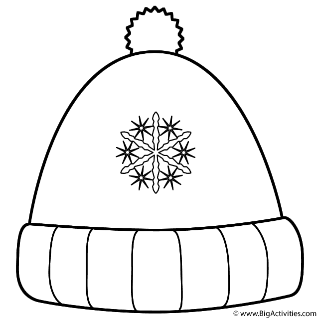 winter hat coloring page winter hat coloring pages coloring pages for kids page hat coloring winter