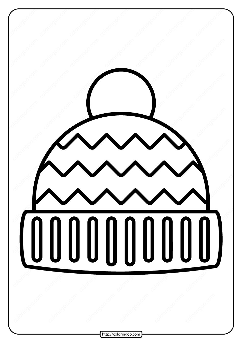 winter hat coloring page winter hat with snowflakes coloring page clothing hat coloring page winter