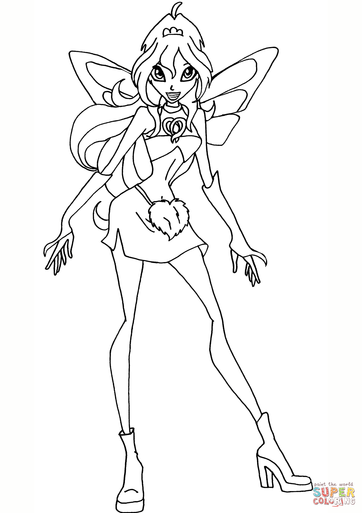winx coloring pages online winx club flora coloring page google search witch online pages coloring winx