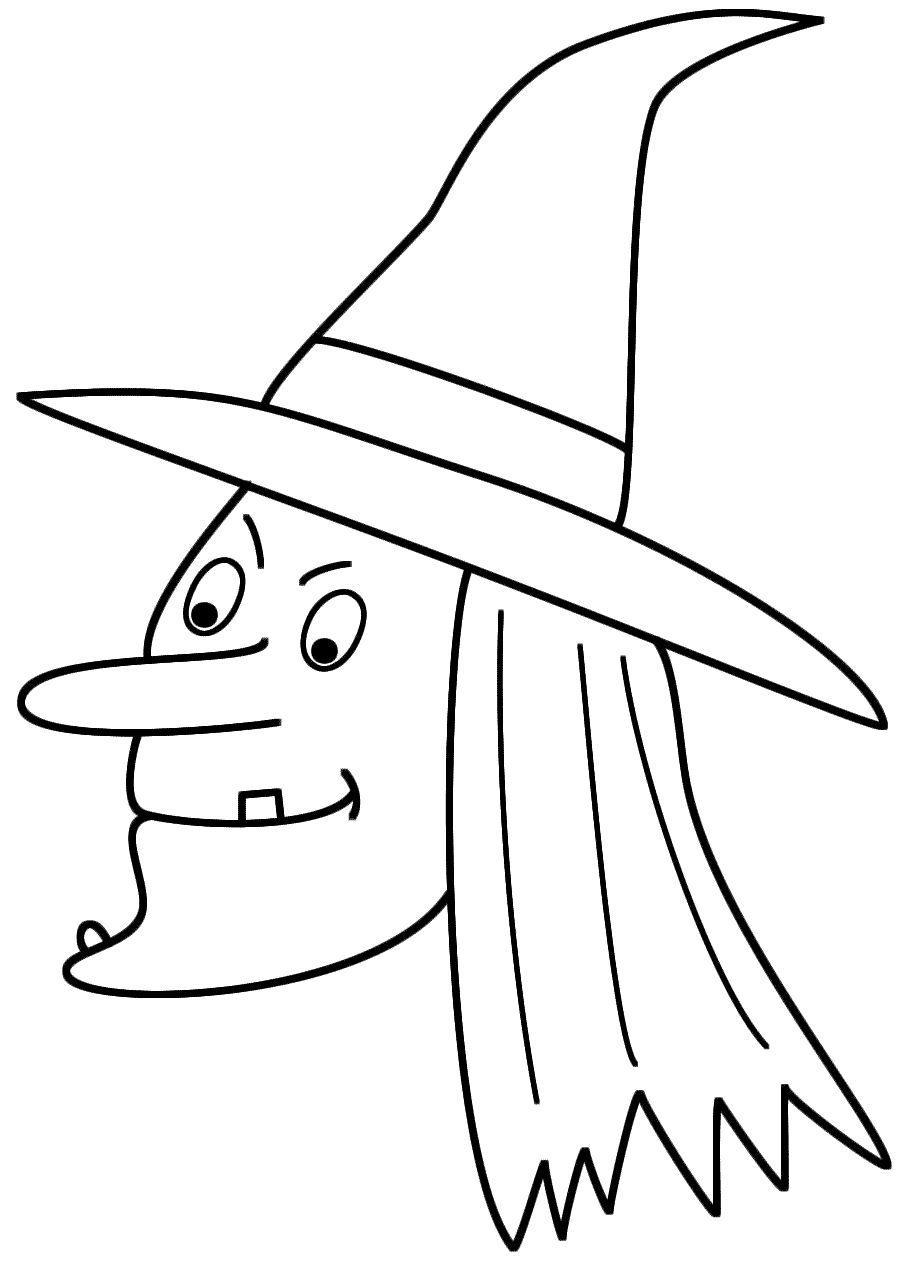 witch face coloring pages witch face coloring page coloringcrewcom face pages witch coloring