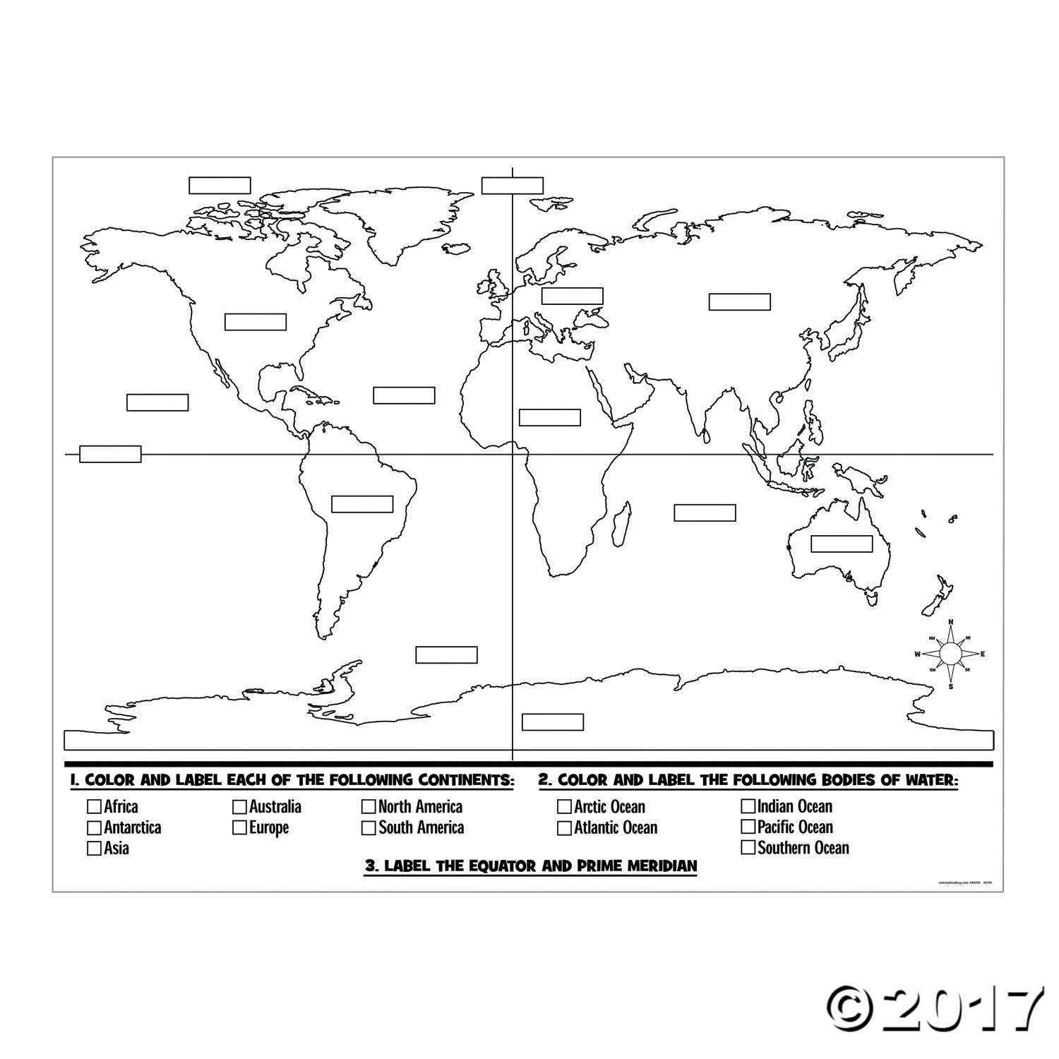 world map coloring poster north america printable globe perfect for a school or map world poster coloring