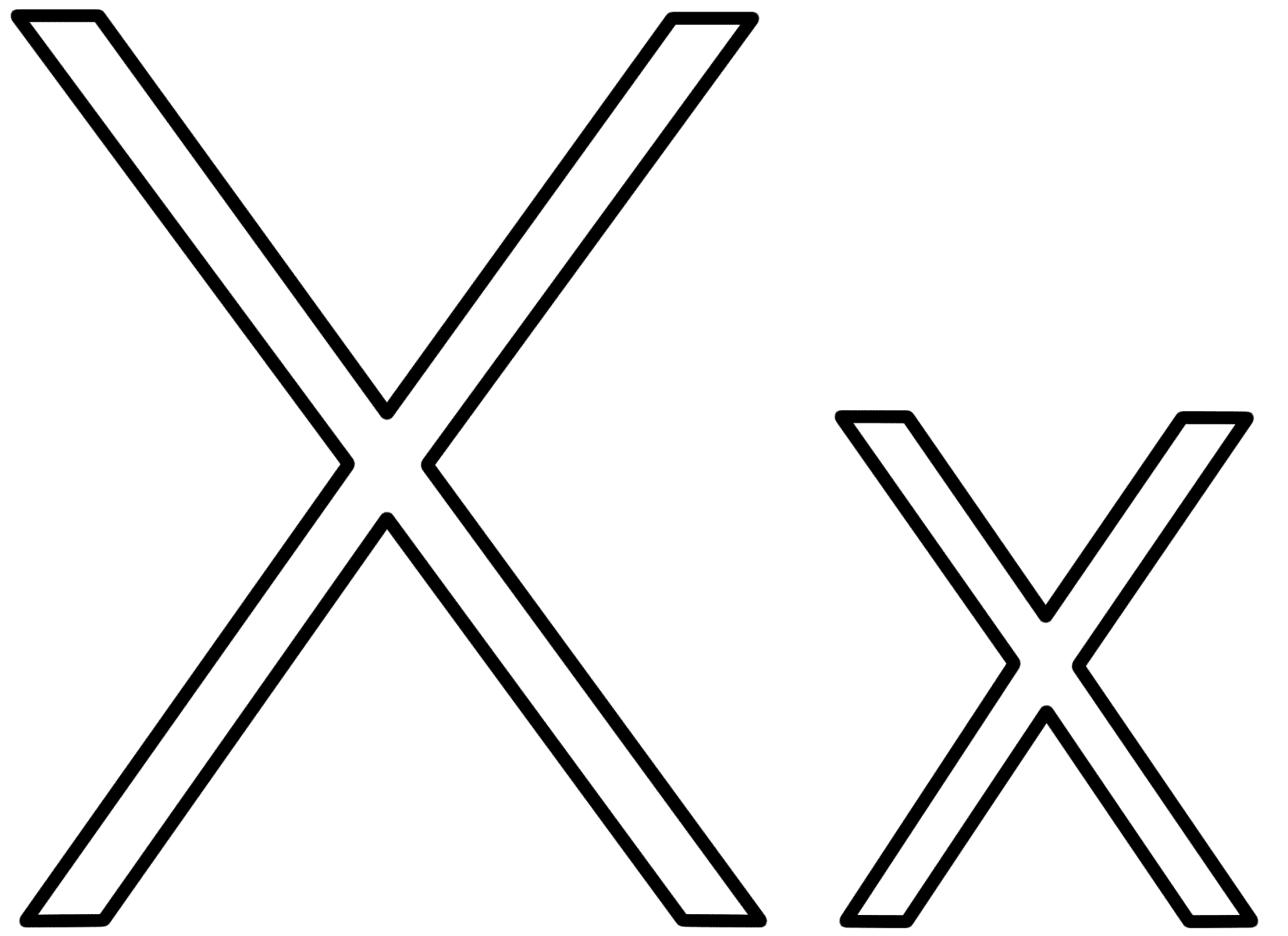 x coloring page letter x coloring page alphabet coloring page x