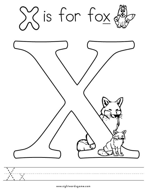x coloring page letter x with plants coloring page free printable page x coloring