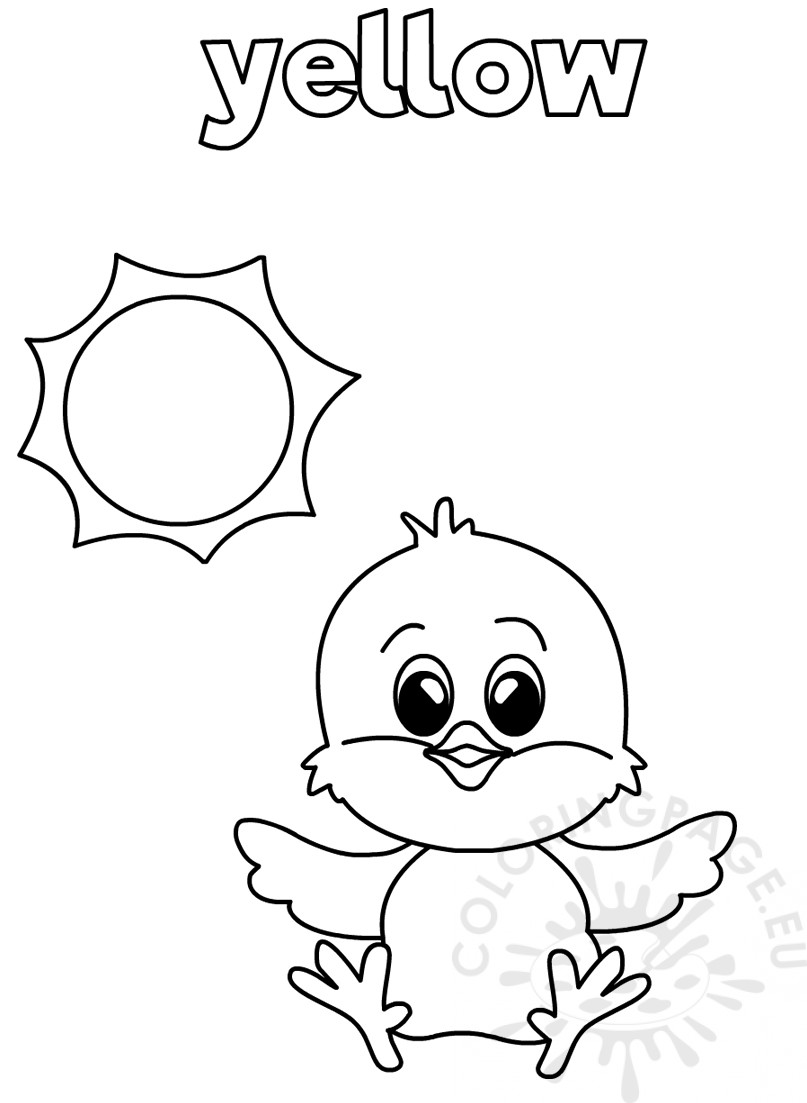 Yellow coloring worksheets