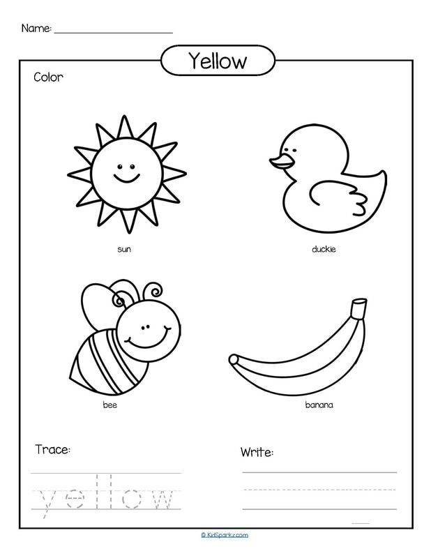 yellow coloring worksheets color yellow worksheet supplyme yellow coloring worksheets