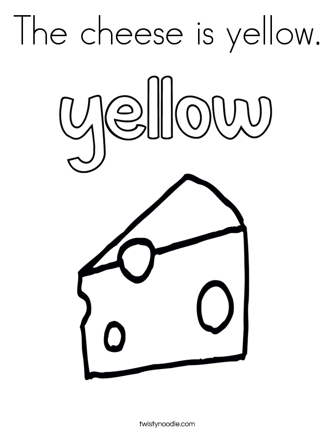 yellow coloring worksheets the cheese is yellow coloring page twisty noodle coloring yellow worksheets