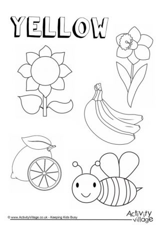 yellow coloring worksheets the color yellow coloring page worksheets yellow coloring