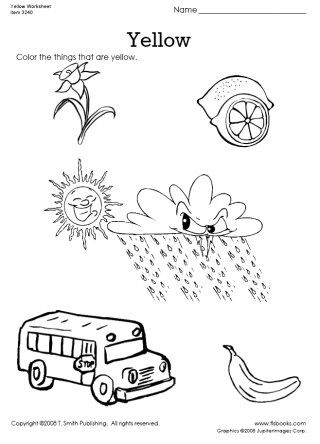 yellow coloring worksheets worksheets yellow and colors on pinterest yellow coloring worksheets