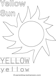 yellow coloring worksheets yellow color trace and read activity sheet coloring yellow worksheets