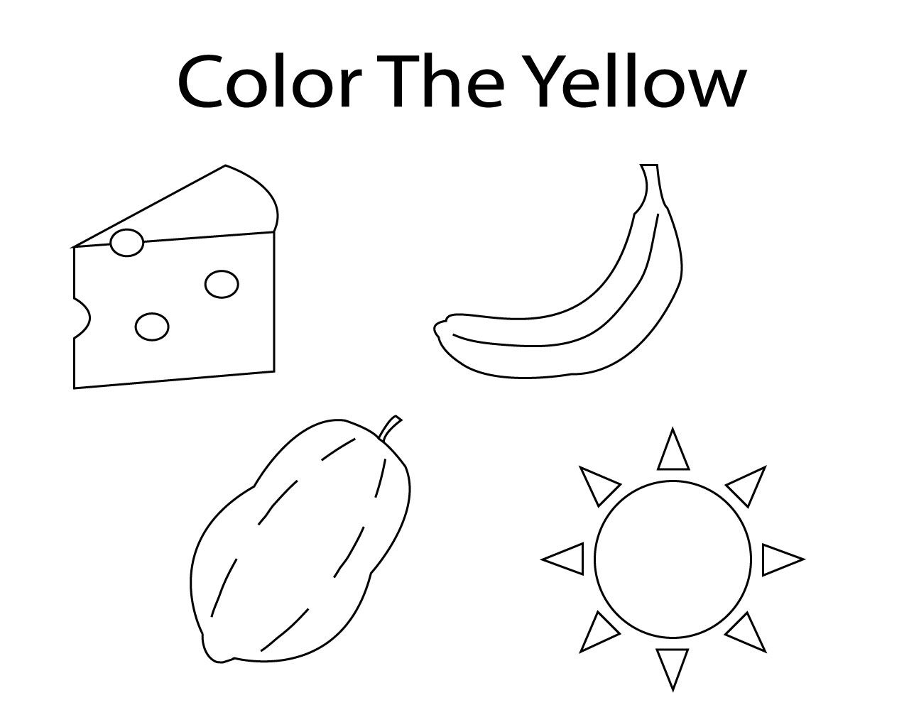 yellow coloring worksheets yellow coloring page twisty noodle worksheets yellow coloring