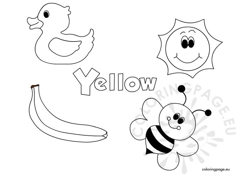 yellow coloring worksheets yellow coloring pages printable coloring home yellow worksheets coloring