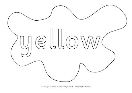 yellow coloring worksheets yellow colouring page splats worksheets yellow coloring